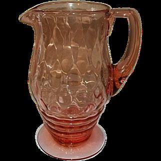 Heisey Glass Koors Pitcher with Diamond Optic
