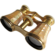 Opera Glasses Binoculars By Lemaire Paris With Mother-Of-Pearl- 1900