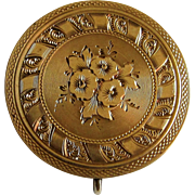 Antique Victorian Gold Filled Lapel Watch Pin Pendant