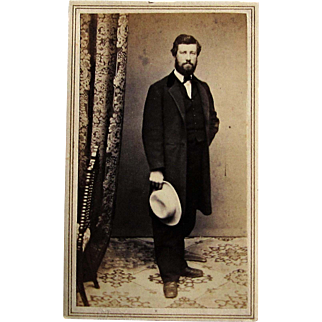 Civil War Era CDV Photograph of Handsome Gentleman- Norwich, Conn.