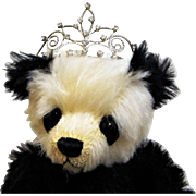Vintage Silver and Brilliant Glittery Rhinestone Tiara For Doll or Teddy.