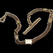 Antique Victorian Gold Filled Albert Ornate Slide Watch Pocket Chain