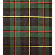 Macleod of Harris Scottish Tartan 100% Wool Fabric- 36''x 54''.
