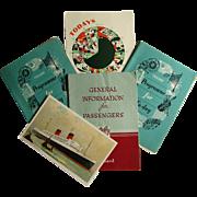 Cunard R.M.S Mauretania Ship- Passenger Booklet, 3 Programmes & Postcard 1954
