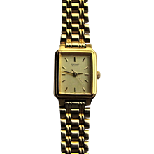 Seiko Ladies Rectangular Dress Bracelet Watch.