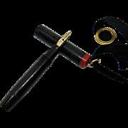 Saltz Miniature Eye-Dropper Pen 14K Nib in Working Condition-1918.