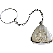 Sterling Silver Chatelaine Locket with Tiny Crucifix Inside- Hallmarked Bliss Brothers