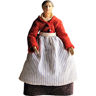 Bucherer SABA Swiss Metal Jointed Composition Provincial Doll