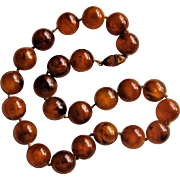 Exquisite Natural Baltic Amber Bead Necklace.