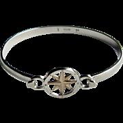 14K Gold & Sterling Silver Compass Rose Skylink Bracelet.