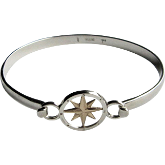 14K Gold & Sterling Silver Compass Rose Skylink Bracelet.