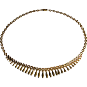 Stunning 14K Yellow Gold Graduating Necklace- Italy