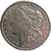 1921 S Morgan Silver Dollar- Nice Luster and Detail.