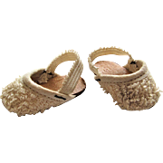 Original Mary Hoyer White Terry Cloth Slippers.