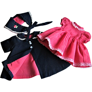 Mary Hoyer Doll Coat, Matching Hat and Dress-1950s