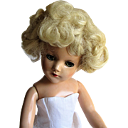 1946-1950s Mary Hoyer Original Blond Mohair Doll Wig. - Red Tag Sale Item