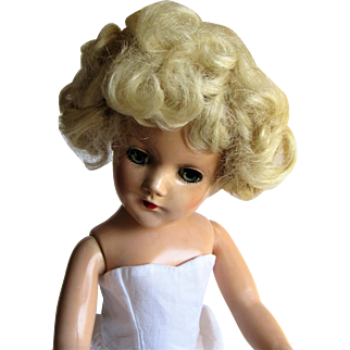 1946-1950s Mary Hoyer Original Blond Mohair Doll Wig.