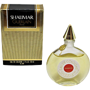 Shalimar Guerlain Eau De Cologne with Box 1.7 FL. OZ. 50 ml.