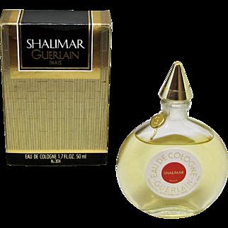 Shalimar Guerlain Eau De Cologne with Box 1.7 FL. OZ. 50 ml.