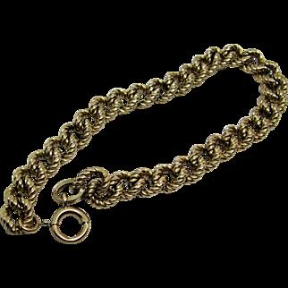 Gold Filled Curb Link Bracelet Hallmarked Binder Bros, New York.