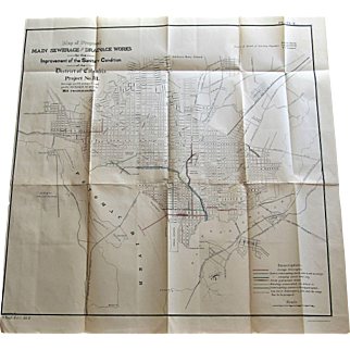 Main Sewerage & Drainage Works Map-District of Columbia 1890.