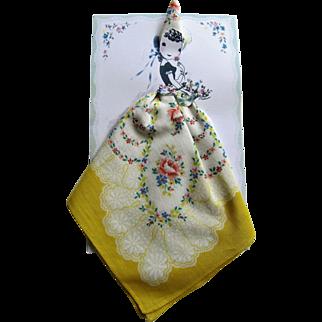 Paper Card Swiss Handkerchief Keepsake. Signed Thelma.