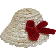 Woven Straw Hat For Vogue Ginny Doll-1950's.