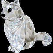 Swarovski Austrian Crystal Sitting Cat wih Box Retired- Mint.