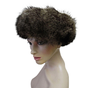 Genuine Raccoon Fur Winter Hat.