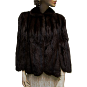 Luxurious Mahogany Mink Swing Cape- Lyford-Woodward Furriers Bangor Maine.