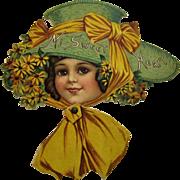Raphael Tuck Die Cut Victorian Mechanical Valentine Card.