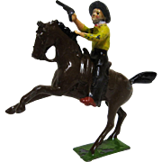 Britains Lead American Wild West Cowboy on Horse with Gun.