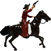 Britains American Wild West Cowboy With Gun on Galloping Horse, Movable Arm