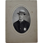 Occupational Cabinet Card of Early Massachusetts Policeman