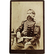 Cabinet Card of a State Militia National Guard Officer- Massachusetts.
