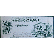 Reward of Merit- Civil War Patriotic Black Americana by Charles Magnus