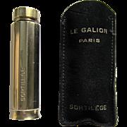 Le Galion Sortilege Gold Plated Perfume Bottle- Paris France