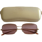 Chanel Designer Vintage Rhinestone CC Charm Sunglasses 4079- Italy
