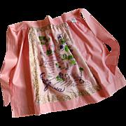 Vintage California Apron, Unused with Paper Tag, 1960's Tourist Souvenir - Red Tag Sale Item