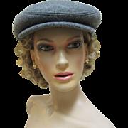 Bedford Boston Newspaper boy Style Gray Wool Hat/Cap