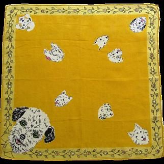 Cute Child's Puppy Dog Handkerchief