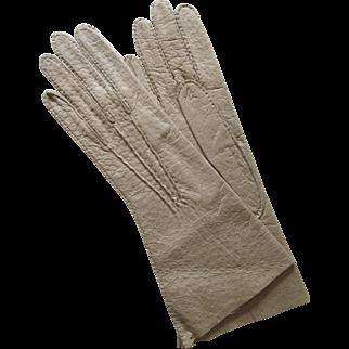 Gorgeous Vintage Camel Leather Pigskin Gloves-Unworn