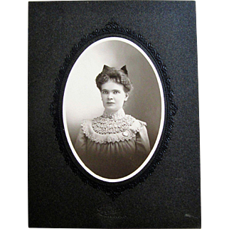 Cabinet Photograph- Lovely Young Well Dressed Lady- Naugatuck, CT.