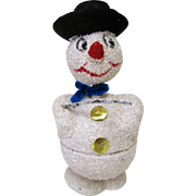 Christmas Bobble Head Candy Container-Made In West Germany.