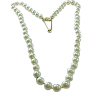 Vintage,  AKOYA  Finest Quality AAA Cultured Pearl  Necklace and 14k Yellow Gold Clasp
