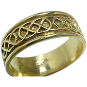 Vintage 14 K Yellow Gold Celtic Rope Design Wedding Band