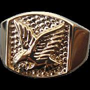 10K Yellow Gold Unisex Eagle Ring