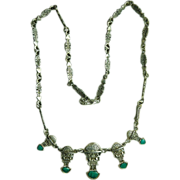 950 Silver and Turquoise Aztec Necklace
