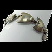 Vintage Handmade Sterling Silver Tulip Bracelet