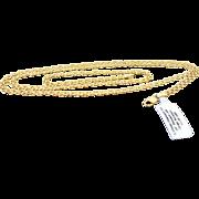 14K Yellow Gold 3.55 MM Diamond Cut Bismark Link Chain